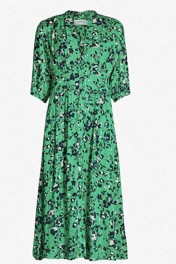 BA&SH Elfe floral-print woven midi dress 4