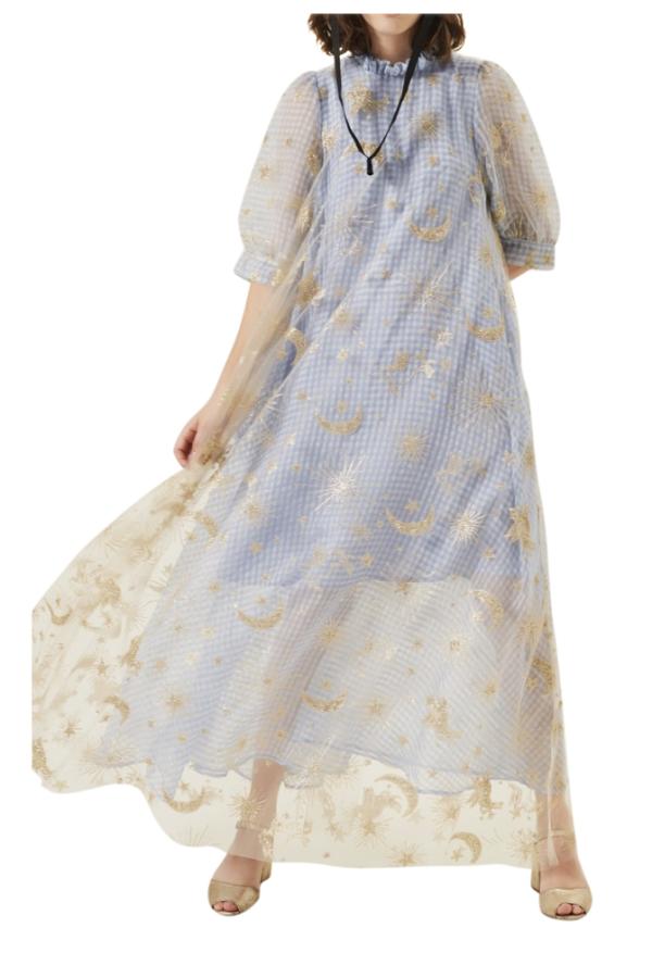 Manoush Blue gingham 'Vichy Star' Dress 5