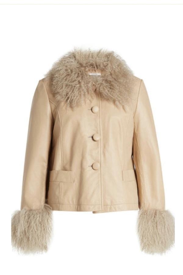 Image 1 of Saks Potts shearling trim jacket