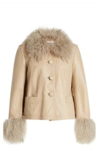 Saks Potts Shearling Trim Jacket Preview Images