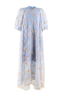 Manoush Blue gingham 'Vichy Star' Dress Preview Images