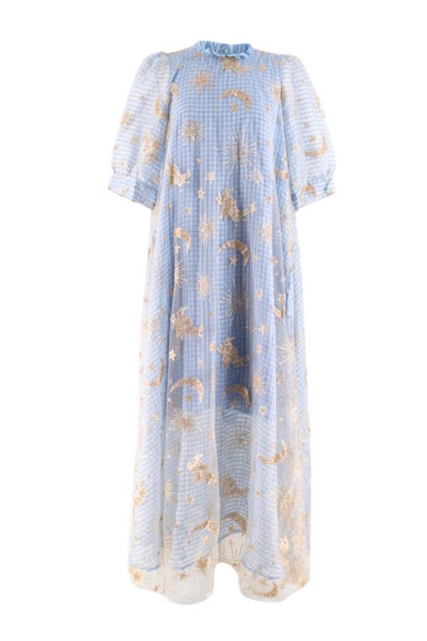 Manoush Blue gingham 'Vichy Star' Dress