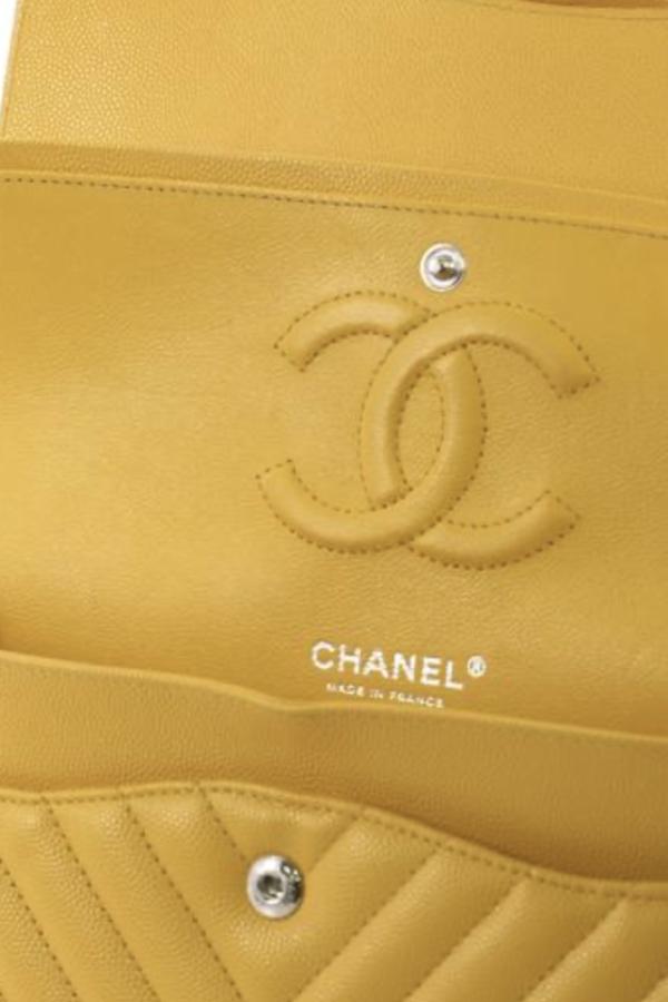 Chanel Double Flap Chevron Bag 3