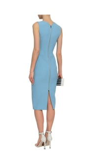Roland Mouret Woven-trimmed paneled stretch-crepe dress 3 Preview Images