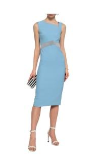 Roland Mouret Woven-trimmed paneled stretch-crepe dress 2 Preview Images