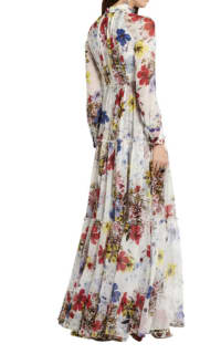 Erdem Floral long-sleeve dress 3 Preview Images