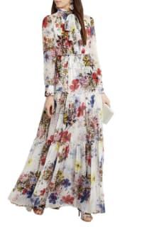 Erdem Floral long-sleeve dress 2 Preview Images