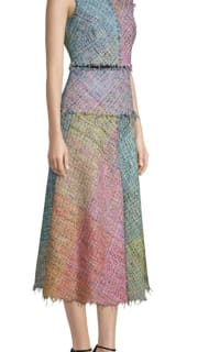 Escada Dalira Multicolor Tweed Midi Dress 2 Preview Images