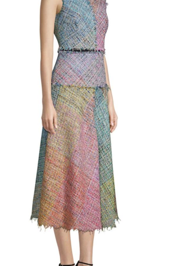 Escada Dalira Multicolor Tweed Midi Dress 2