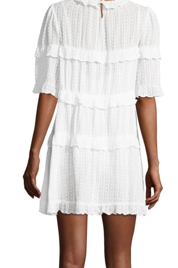 Isabel Marant Yukio tiered white dress  2