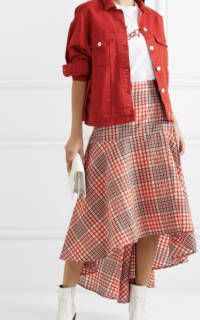 Ganni Checked Skirt 3 Preview Images