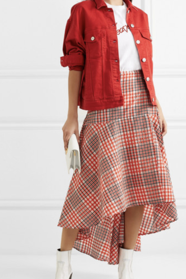 Ganni Checked Skirt 3