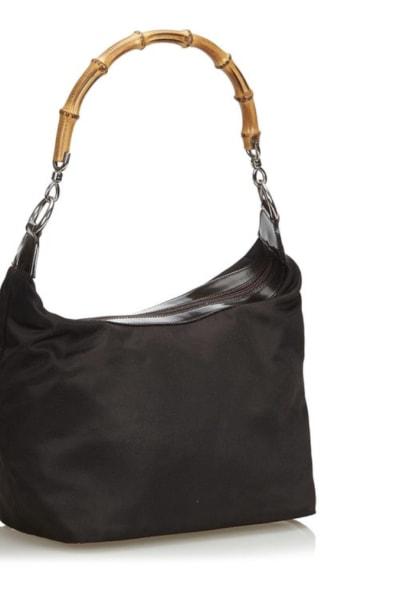 "Gucci Vintage ""Diana"" bamboo handle satchel 2"
