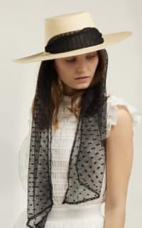 Sensi Studio Cordovez Swiss-dot tulle hat 2 Preview Images