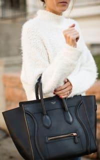 Celine Mini Luggage Tote Smooth Black 2 Preview Images