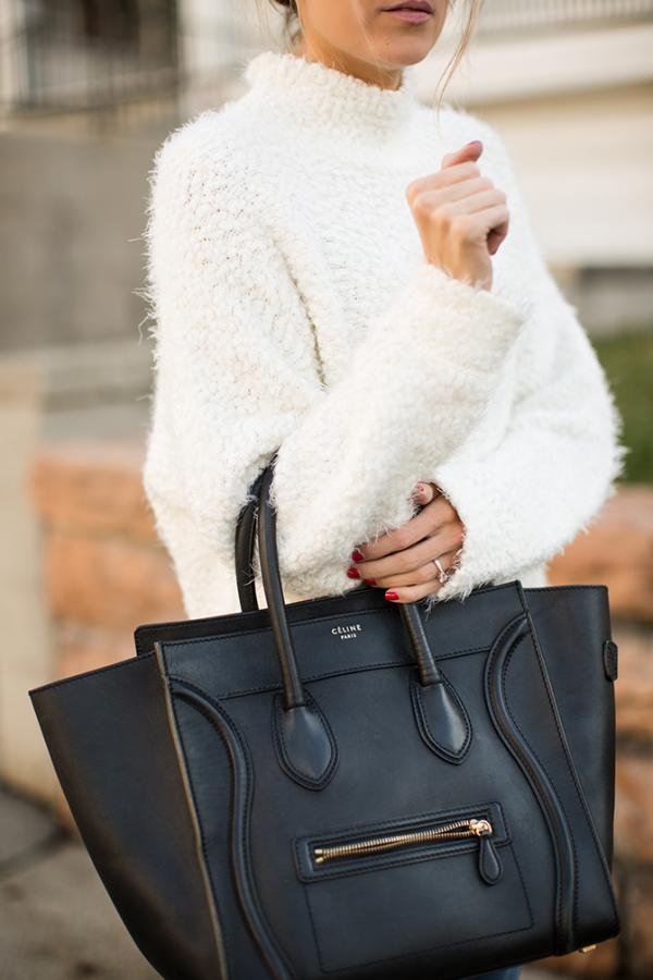 Celine Mini Luggage Tote Smooth Black 2