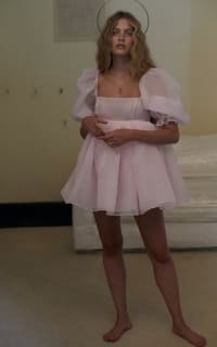 Selkie Pink Puff Mini Dress 3 Preview Images