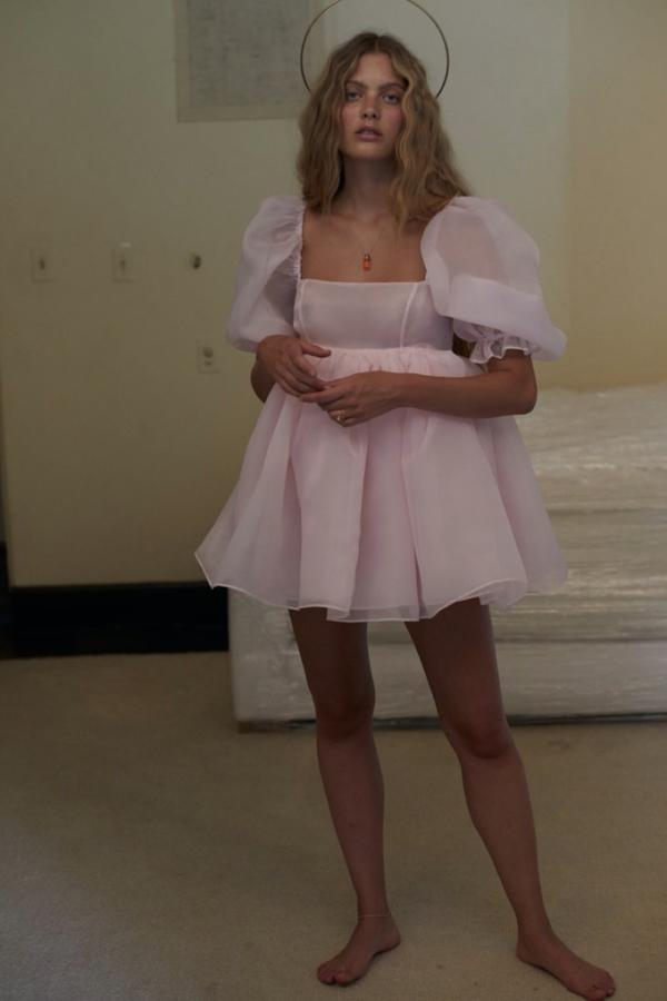 Selkie Pink Puff Mini Dress 3