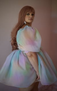 Selkie The Rainbow Puff Dress 6 Preview Images
