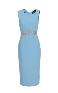 Roland Mouret Woven-trimmed paneled stretch-crepe dress 4 Preview Images