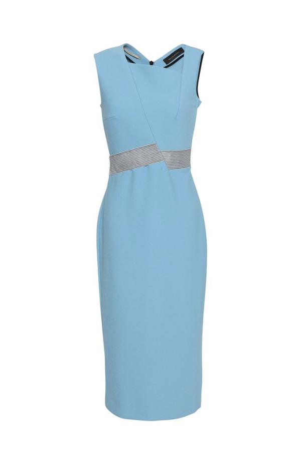 Roland Mouret Woven-trimmed paneled stretch-crepe dress 4