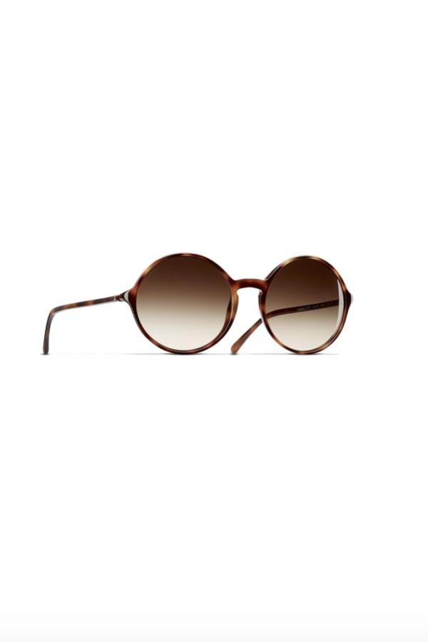 Image 3 of Chanel round tortoise sunglasses