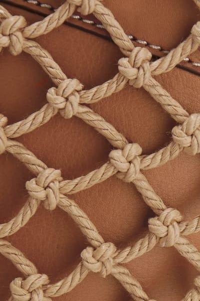 Staud Moreau Leather and Macrame Bag 3