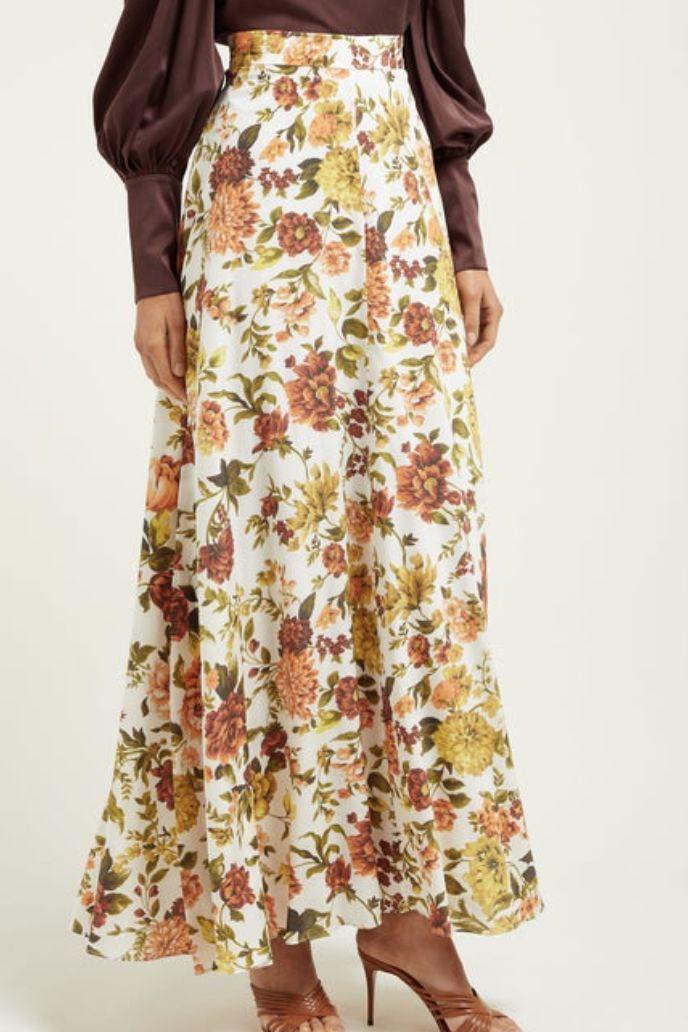 Zimmermann Zippy Basque floral-print silk-blend maxi skirt 2 Preview Images
