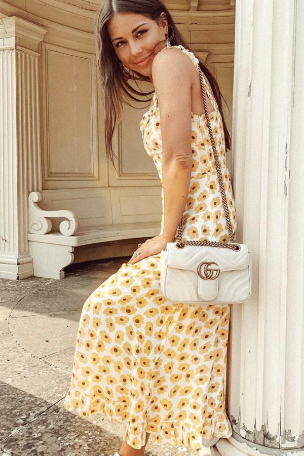 Faithfull The Brand Noemie Ruffled Floral Midi Dress