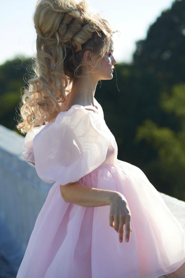 Selkie Pink Puff Mini Dress 4