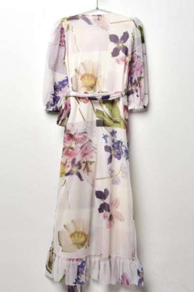 Ganni Wrap floral dress 3