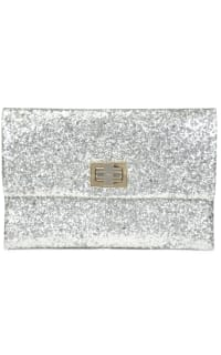 Anya Hindmarch Valorie Silver Glitter Clutch Preview Images