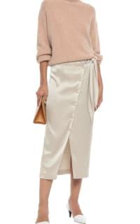Nanushka Silk Midi Skirt 2 Preview Images