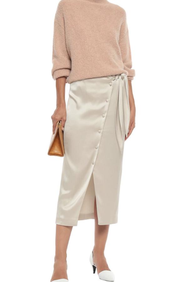 Nanushka Silk Midi Skirt 2