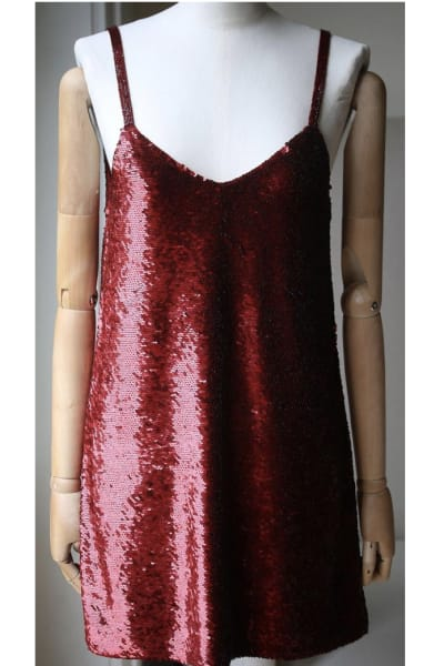Ashish Sequin V-Neck Dress 2