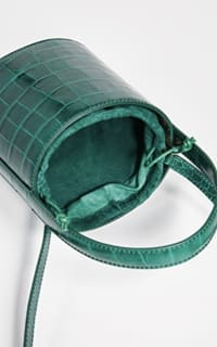 Staud Bissett croc-effect leather 2 Preview Images