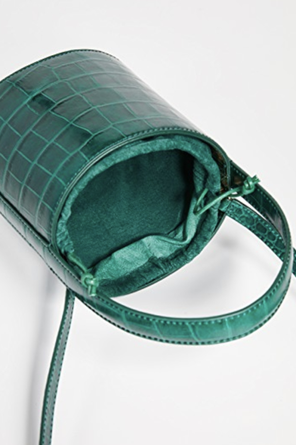 Staud Bissett croc-effect leather 2