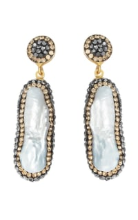SORU Baroque Pearl Gold Earrings 2 Preview Images
