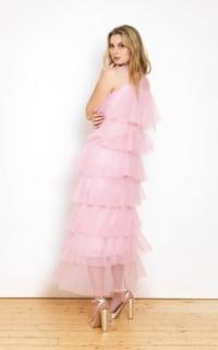 Lisou London Pink maxi ruffle dress 3 Preview Images