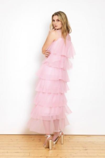 Lisou London Pink maxi ruffle dress 3