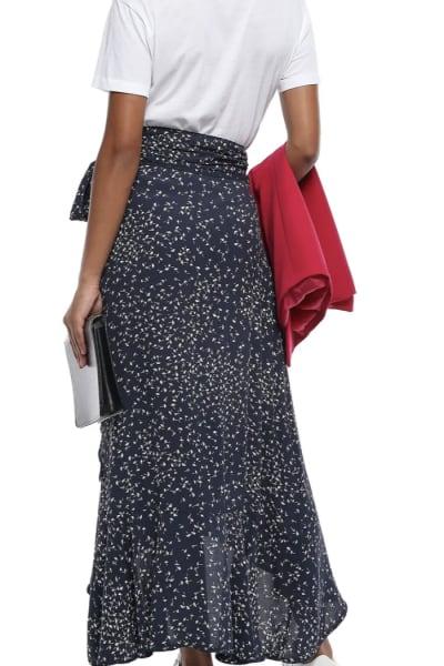 Ganni Barra floral-print crepe skirt 2