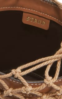 Staud Moreau Leather and Macrame Bag 4 Preview Images