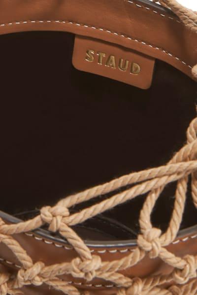 Staud Moreau Leather and Macrame Bag 4