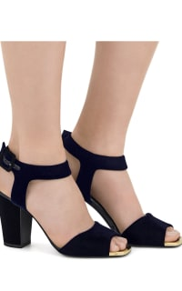 Giuseppe Zanotti Emmanuelle Velvet Blu Sandals  2 Preview Images