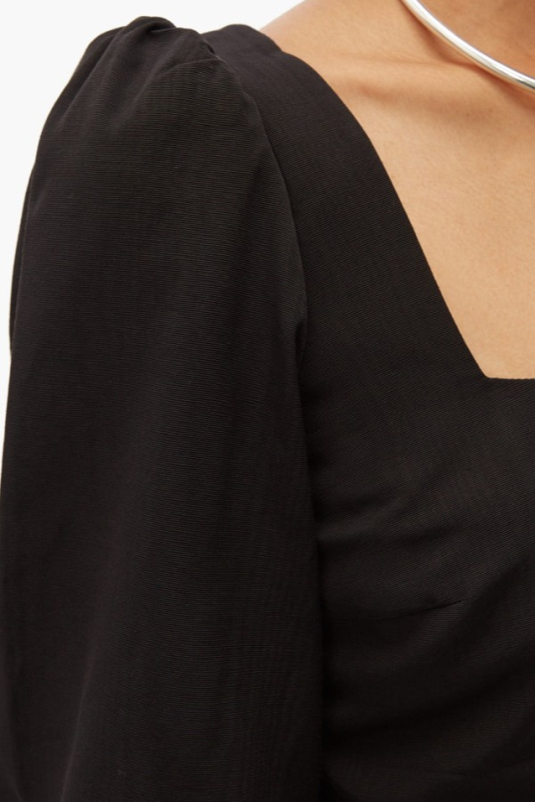 Image 3 of Racil pat moiré cropped top
