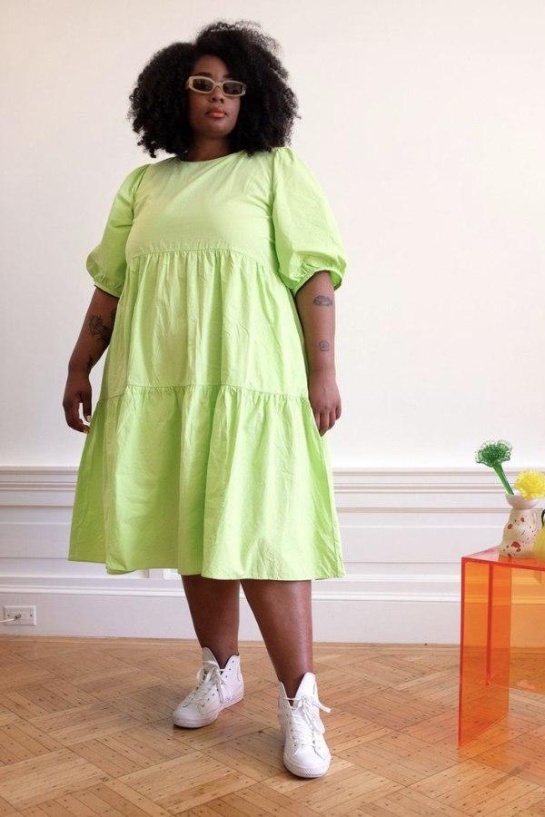 Image 3 of Wray rosemary dress limeade