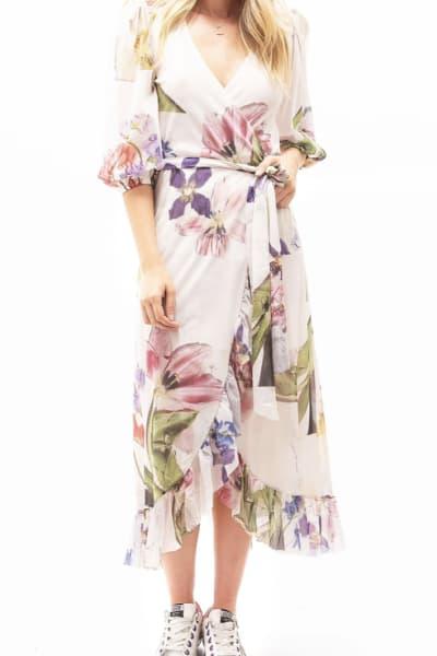 Ganni Wrap floral dress 2