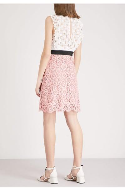 Sandro Cutout Sleeveless Embroidered Mini Pink White Dress 3