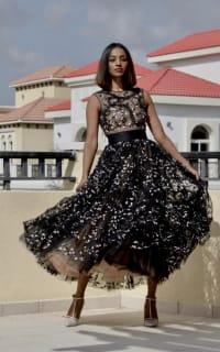 Giambattista Valli Floral tulle midi dress 2 Preview Images