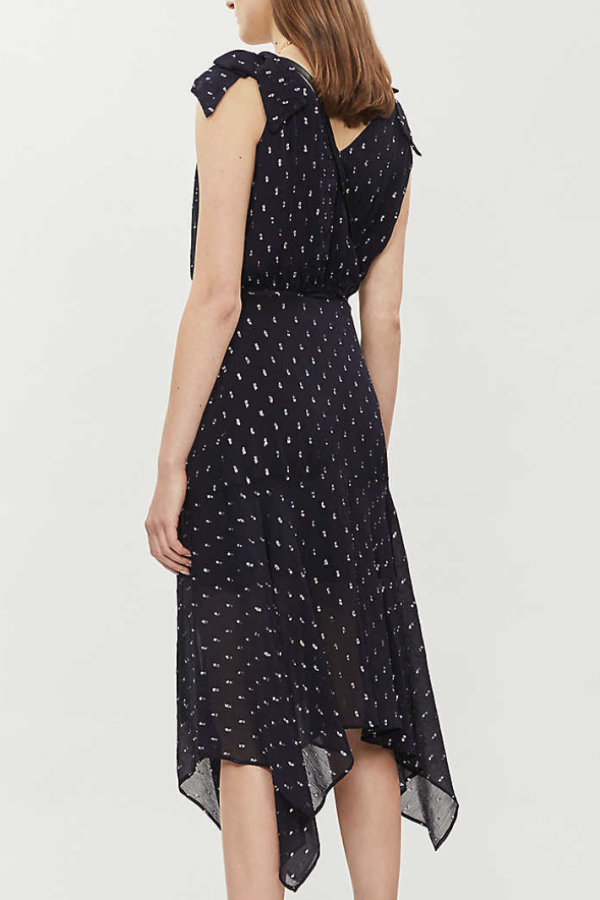 The Kooples Polka Dot Long Wrap Dress 4